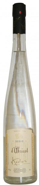 Kuhri Apricot Eau de Vie Obstbrand Aprikose Elsass 45% 0,7 L.