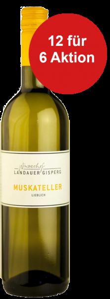 12 für 6 Aktion! Weingut Landauer Gispert Weisswein Muskateller lieblich 2017