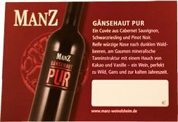 Eric Manz Gänsehaut PUR Rotwein Rheinhessen trocken 2015