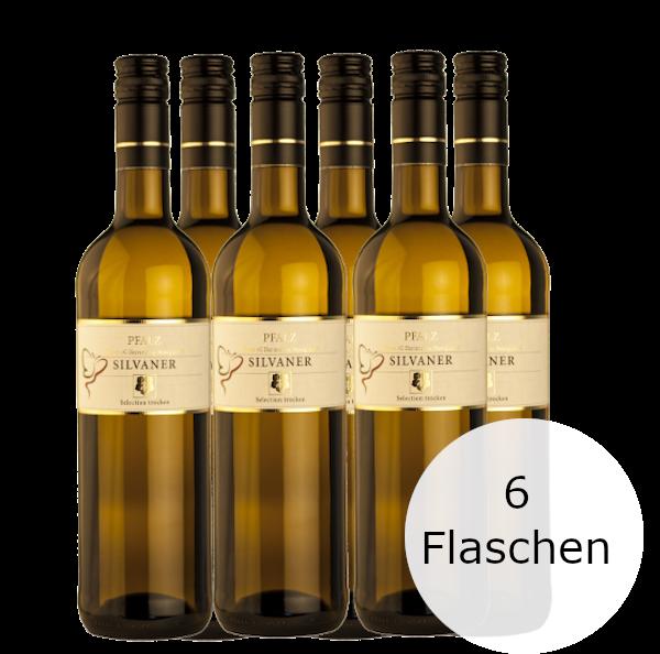 6 Flaschen Herrenberg Silvaner Weisswein Selektion Pfalz 2019