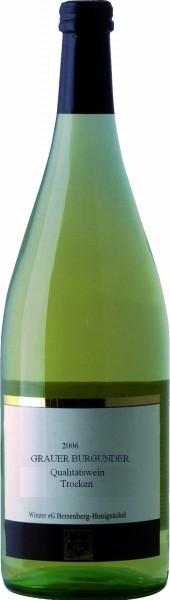 Winzer Herrenberg Pfalz Rivaner Weisswein QbA 1,0 Liter trocken 2016
