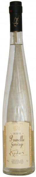 Kuhri Prunelle Sauvage Wildschlehe Eau de Vie Brand Elsass 45% 0,7 L.