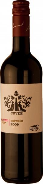 6 Flaschen kräftiger Hensel Rotwein Cuvée Aufwind Pfalz 2016
