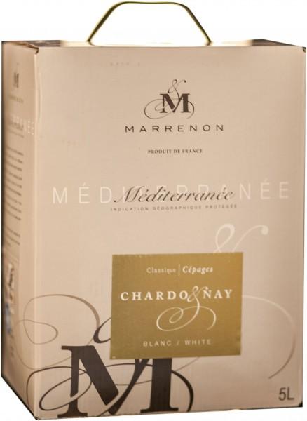 Marrenon Chardonnay Weisswein Weinschlauch VdP 5 Liter