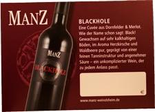 Manz Black Hole Rotwein Cuvée trocken 2016